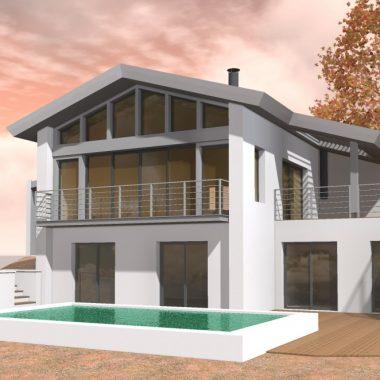 Villa Bidart 1.2- Architecte Gérard DEZES